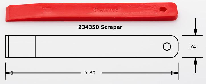 Semco Sealant Scraper p/n 234350